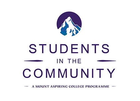 Mount Aspiring College's Students in the Community (SIC) logo.