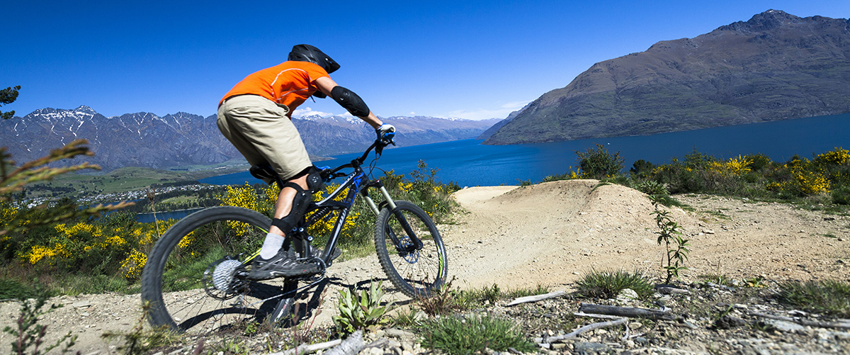 Mountain biking at the Queenstown Gondala